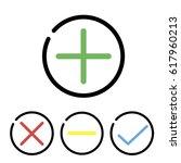 plus vector icon  no  delete... | Shutterstock .eps vector #617960213