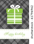 greeting card with gift box | Shutterstock .eps vector #61796962