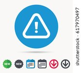 warning icon. attention... | Shutterstock .eps vector #617970497