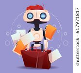 free chat bot  robot virtual... | Shutterstock .eps vector #617971817