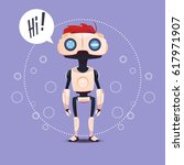 chat bot  robot virtual... | Shutterstock .eps vector #617971907