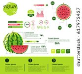 fresh organic infographics... | Shutterstock .eps vector #617973437