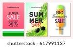 set of summer sale banner...   Shutterstock .eps vector #617991137