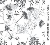 floral black and white seamless ... | Shutterstock .eps vector #617997383