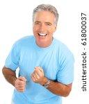 smiling happy elderly man....   Shutterstock . vector #61800037