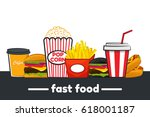 set of colorful cartoon fast... | Shutterstock .eps vector #618001187