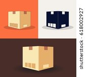 icons of boxes. a set of icons... | Shutterstock .eps vector #618002927