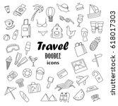 big set of hand drawn doodle...   Shutterstock .eps vector #618017303