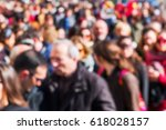 picture of a crowd of people... | Shutterstock . vector #618028157