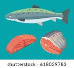 seafood vector black and white... | Shutterstock .eps vector #618029783