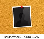 empty photo frame pinned to a... | Shutterstock .eps vector #618030647