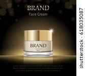 night face cream package design ... | Shutterstock .eps vector #618035087