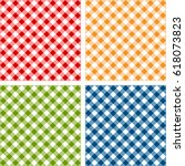picnic table cloth. seamless... | Shutterstock .eps vector #618073823