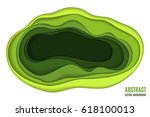 abstract paper carve background ... | Shutterstock .eps vector #618100013