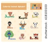 animal abc from letter j   r | Shutterstock .eps vector #618103103