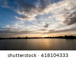 colorful dramatic sky with... | Shutterstock . vector #618104333