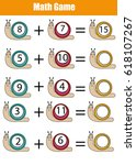 mathematics educational game... | Shutterstock .eps vector #618107267