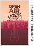 summer festival open air poster ... | Shutterstock .eps vector #618108437