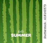 watermelon green texture... | Shutterstock .eps vector #618143573