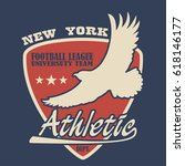 new york typography with eagle. ... | Shutterstock .eps vector #618146177