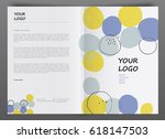 cover design annual report ... | Shutterstock .eps vector #618147503