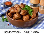 Home Meatballs With Spices On ...
