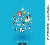 sport integrated 3d web icons.... | Shutterstock .eps vector #618150383