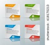 vector abstract 3d paper... | Shutterstock .eps vector #618170213