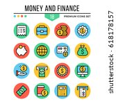 money and finance icons. modern ...