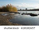 freshwater wetlands shoreline... | Shutterstock . vector #618182657