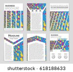 abstract vector layout... | Shutterstock .eps vector #618188633