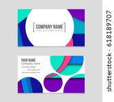 abstract vector layout... | Shutterstock .eps vector #618189707