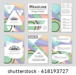 abstract vector layout... | Shutterstock .eps vector #618193727