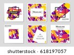 abstract vector layout...   Shutterstock .eps vector #618197057