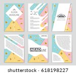 abstract vector layout... | Shutterstock .eps vector #618198227