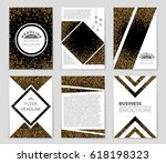 abstract vector layout... | Shutterstock .eps vector #618198323
