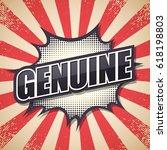 retro poster  genuine  vector... | Shutterstock .eps vector #618198803