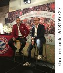Small photo of SINGAPORE - APRIL 7, 2017: Hasan Salihamidzic greets fans as he arrives at the small event 'Meet & Greet with FC Bayern Legend' in Singapore.