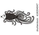 gold fish. vector illustration.   Shutterstock .eps vector #618204047