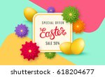easter sale banner template... | Shutterstock .eps vector #618204677