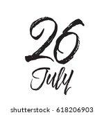 26 july  text design. vector...   Shutterstock .eps vector #618206903