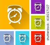 illustration of six clock icons | Shutterstock .eps vector #618217127