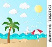 vector illustration of the sea  ...   Shutterstock .eps vector #618239603