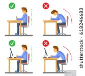 vector   correct body alignment ... | Shutterstock .eps vector #618246683