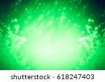 green abstract spring... | Shutterstock . vector #618247403