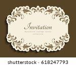 vintage vignette with floral... | Shutterstock .eps vector #618247793