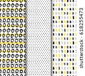 set of seamless vector patterns ...   Shutterstock .eps vector #618255473