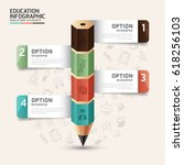infographic template in the... | Shutterstock .eps vector #618256103