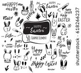 vector hand drawn easter icon... | Shutterstock .eps vector #618266237