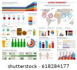 alcohol drinks infographics.... | Shutterstock .eps vector #618284177